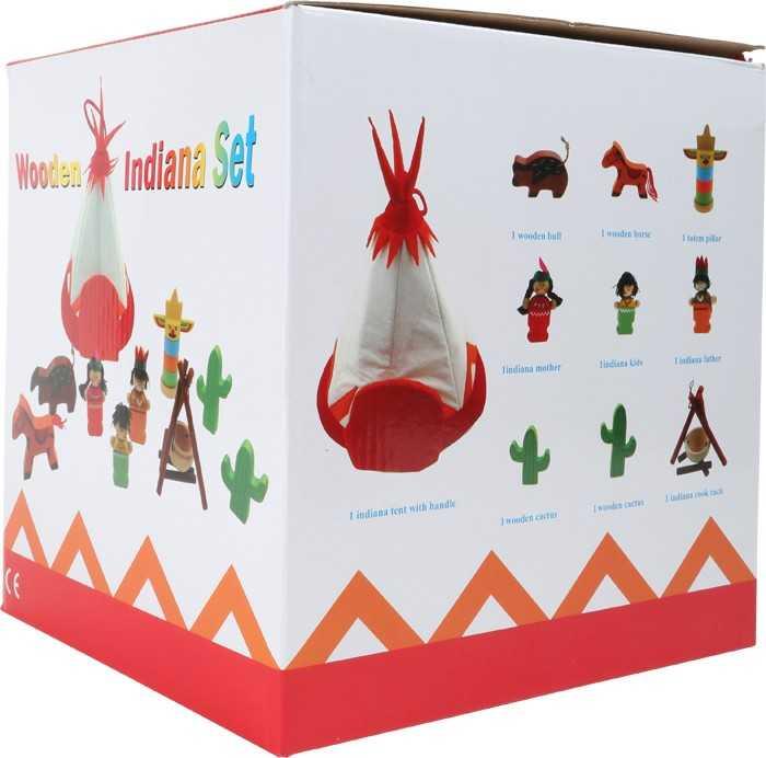 Small Foot Látkové Teepee - Indiánsky hrací set