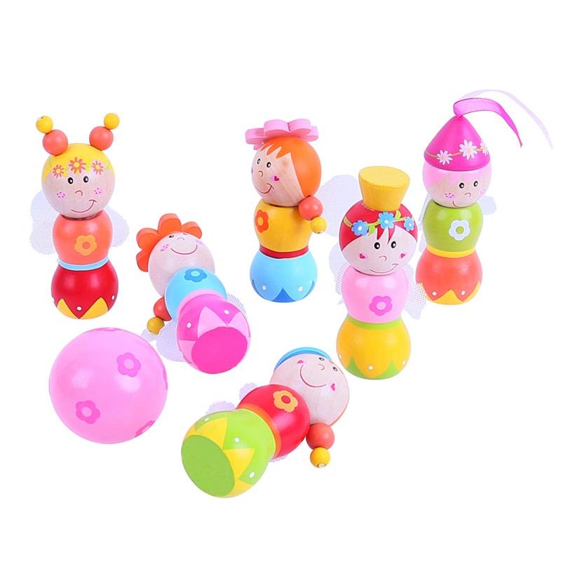 Bigjigs Toys dřevěné hry - kuželky Víly