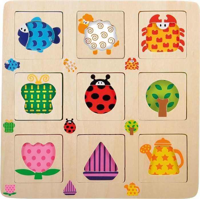 Small Foot VKladacie puzzle - set 2 motívov