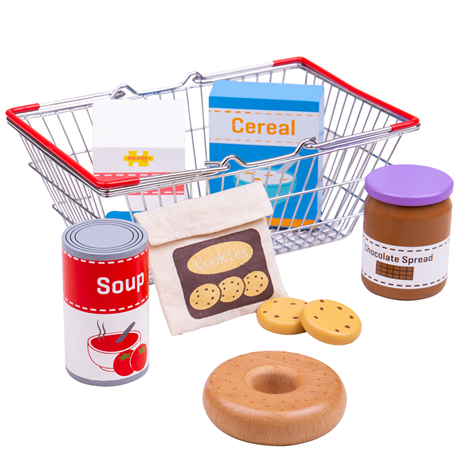 Bigjigs Toys Nákupný košík s potravinami