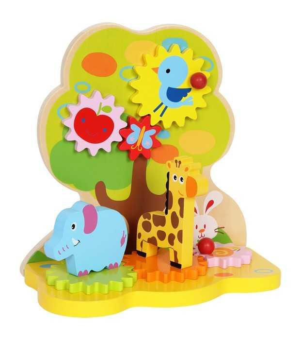Small Foot Drevená motorická hračka - Drevený raj pohybu