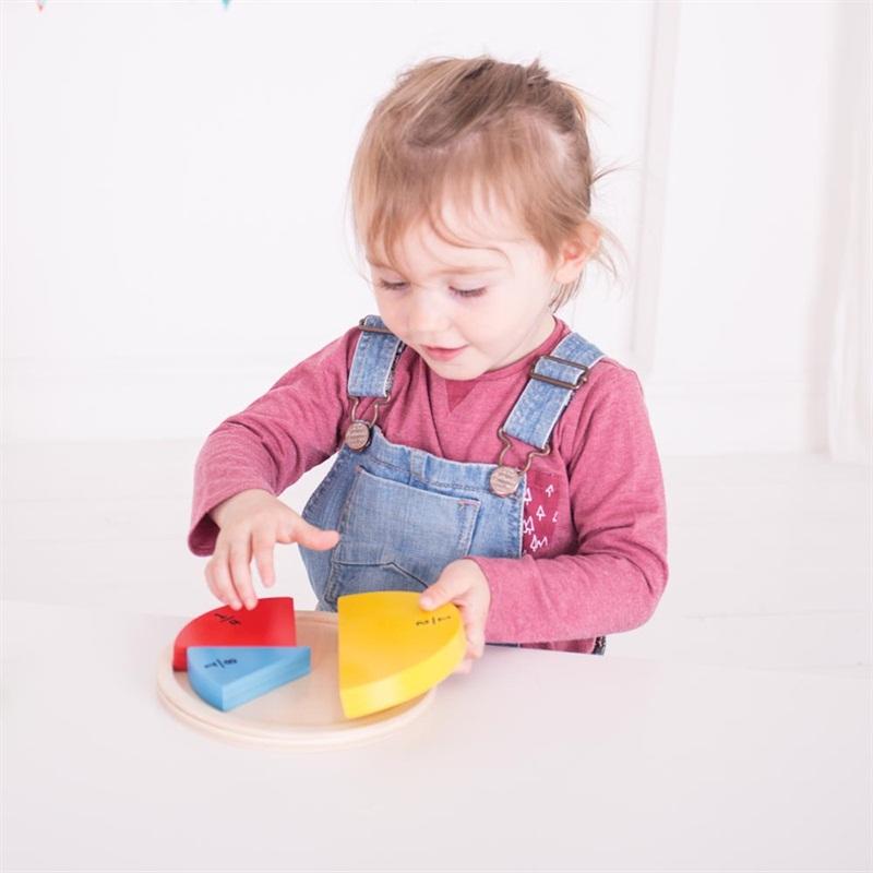 Bigjigs Toys dřevěná didaktická pomůcka - První zlomky