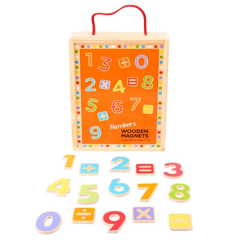 Dřevěné hračky - Školní pomůcky - Magnetické počítání