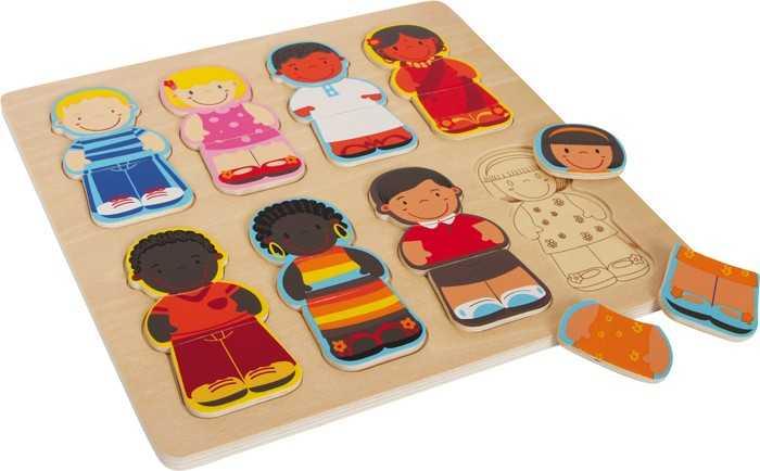 Small Foot Vkladacie puzzle - Deti tohto sveta