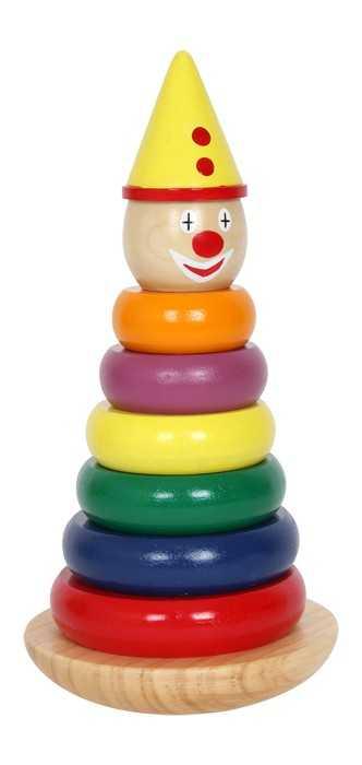 Small Foot Navliekacia pyramída klaun