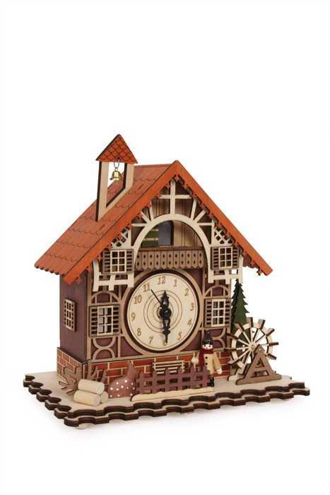 Small Foot Bytové dekorácie - Hodiny Hrazdené dom