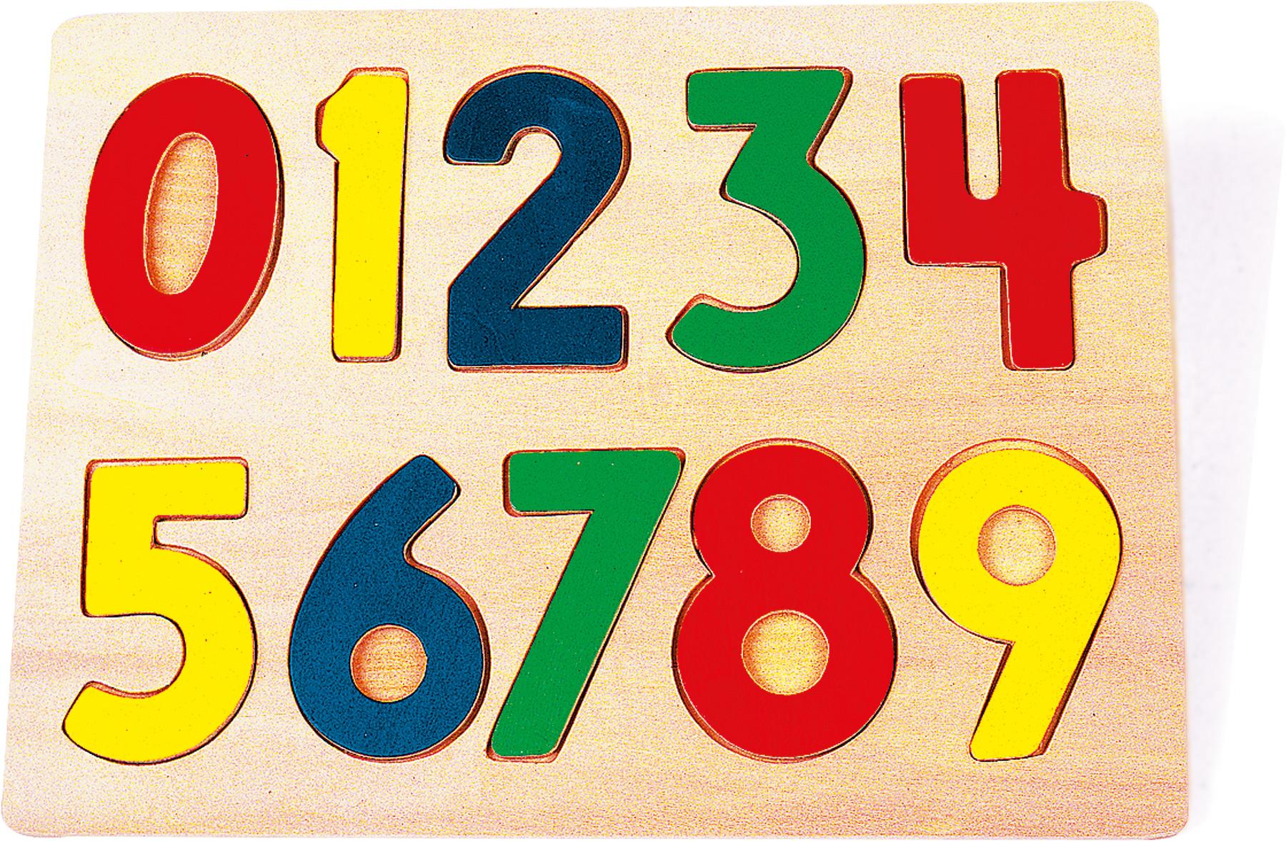 Small Foot Drevené puzzle čísla