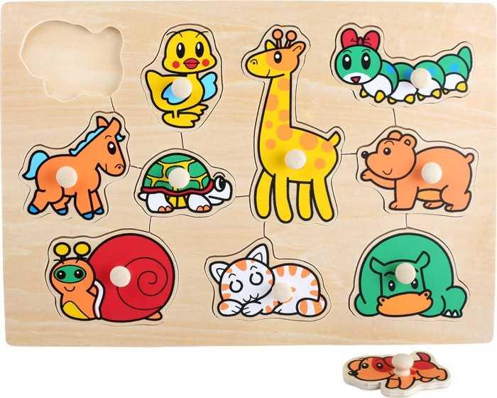 Small Foot Vkladacie puzzle Zvieratká