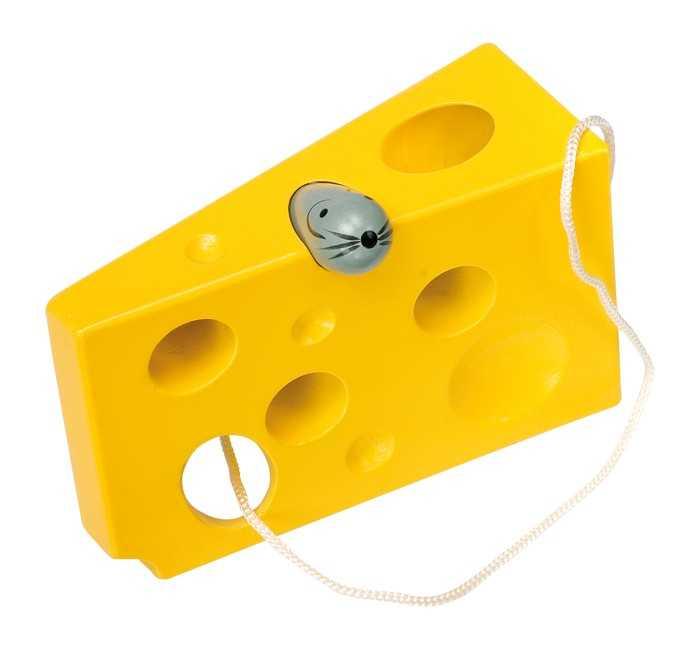 Small Foot Hra na prevliekanie syr s myškou žltá verzia