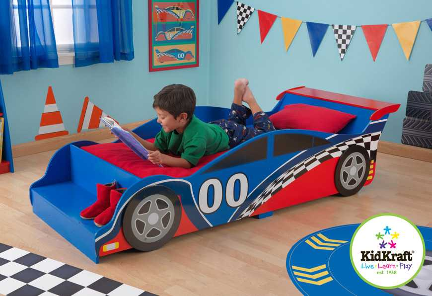 KidKraft Postel - Závodní auto