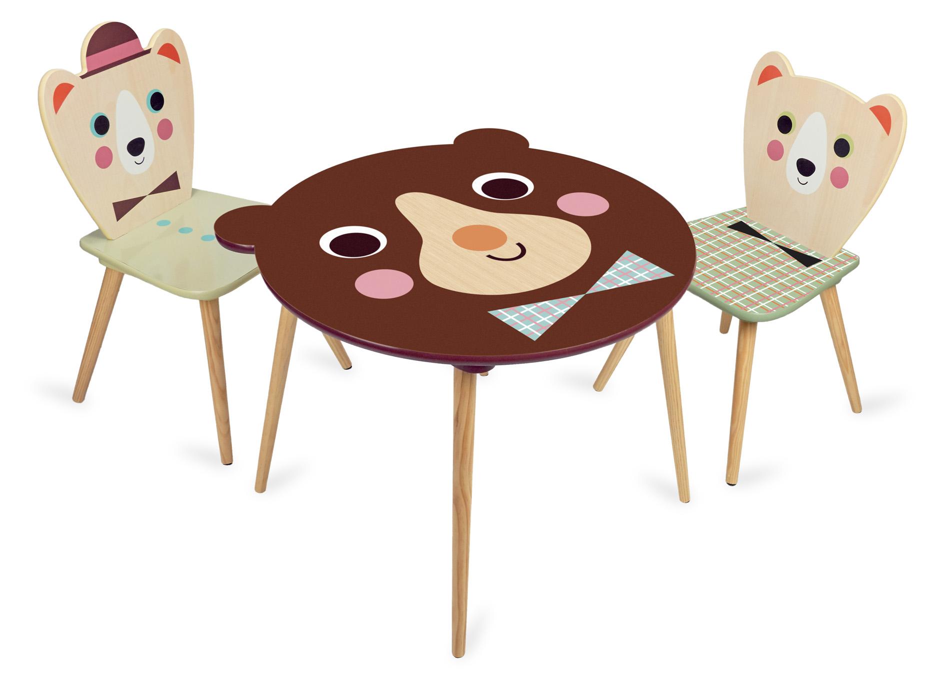 Vilac - Dřevěná židle pan medvídek