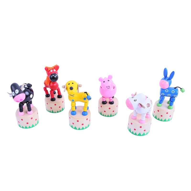 Bigjigs Toys dřevěná mačkací zvířátka - 1ks