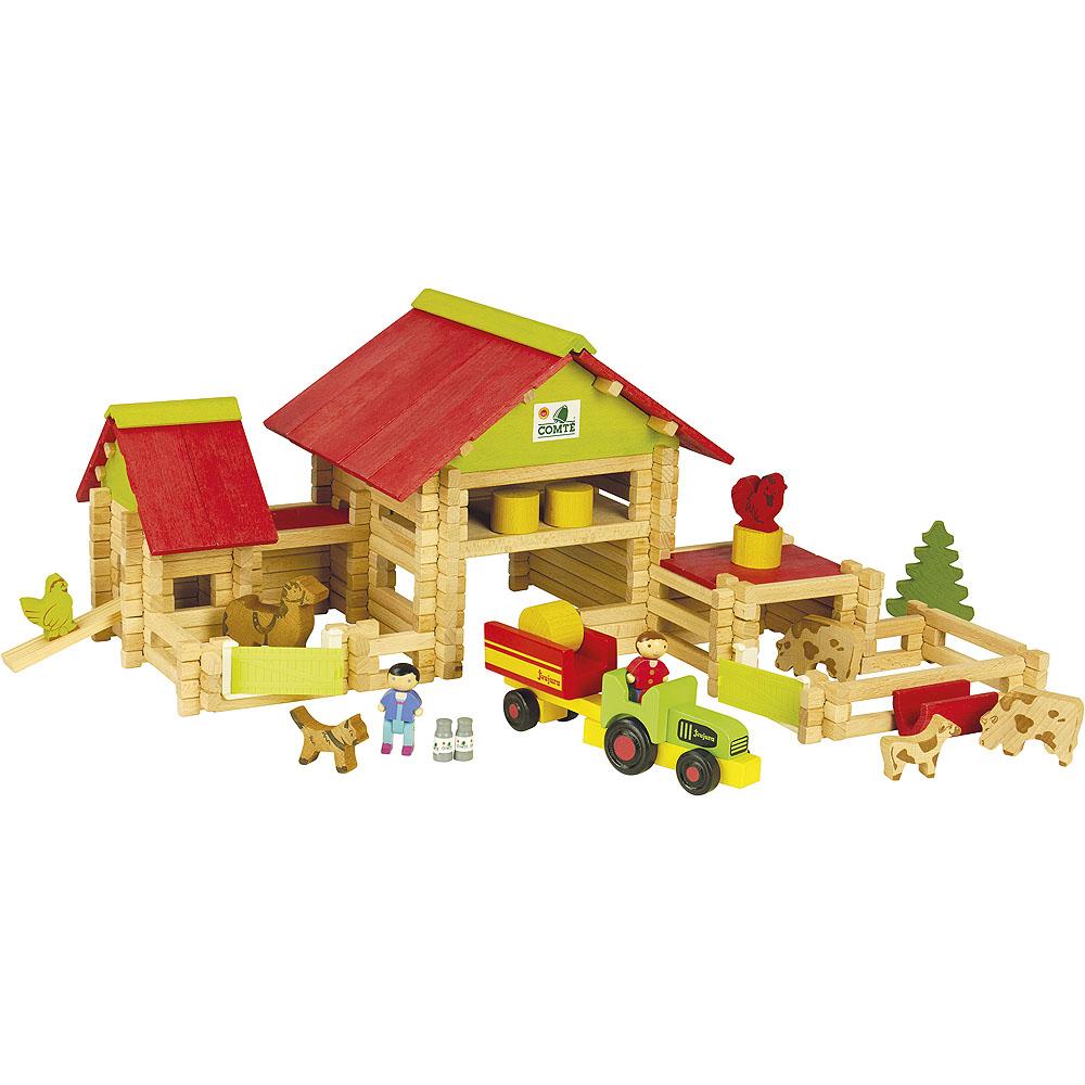 Jeujura Veľká farma s traktorom a zvieratkami 220 dielov