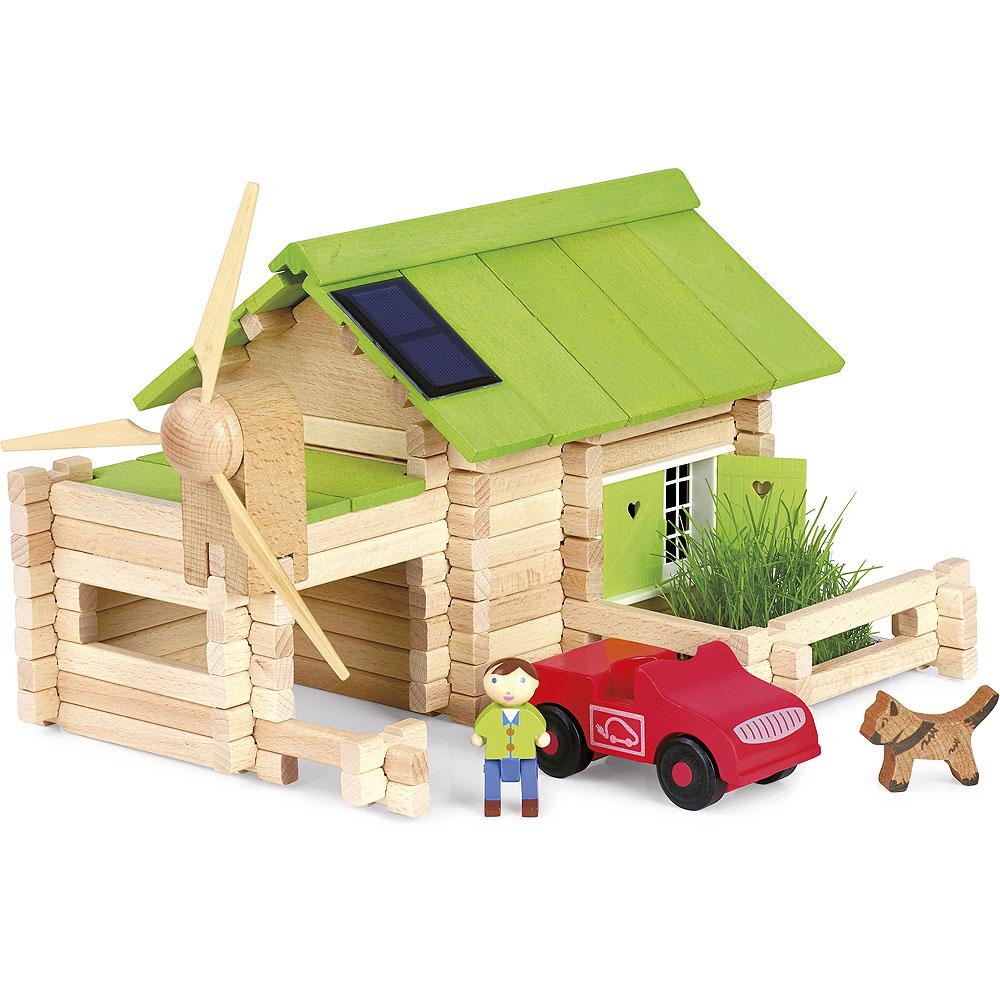 Jeujura Drevená stavebnica 145 dielov Ekologická farma