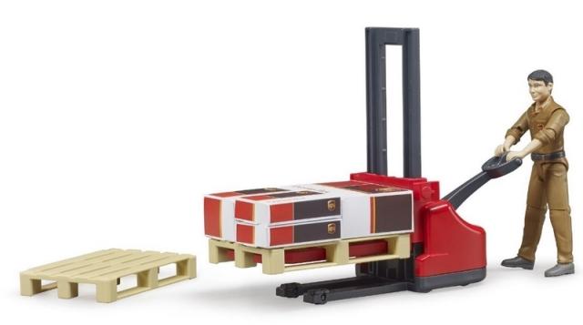 Bruder - Set vysokozdvižný vozík s figurkou