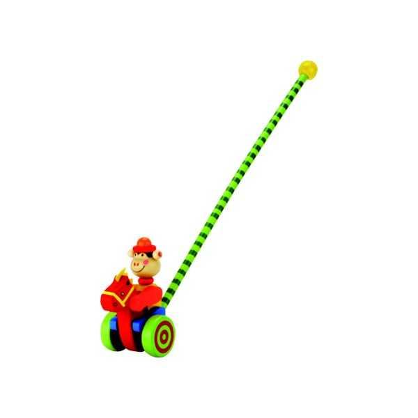 Dřevěné hračky - Jezdík – opička