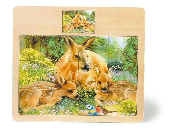 Small Foot drevené vkladacie Puzzle Zvieratá 4 druhy