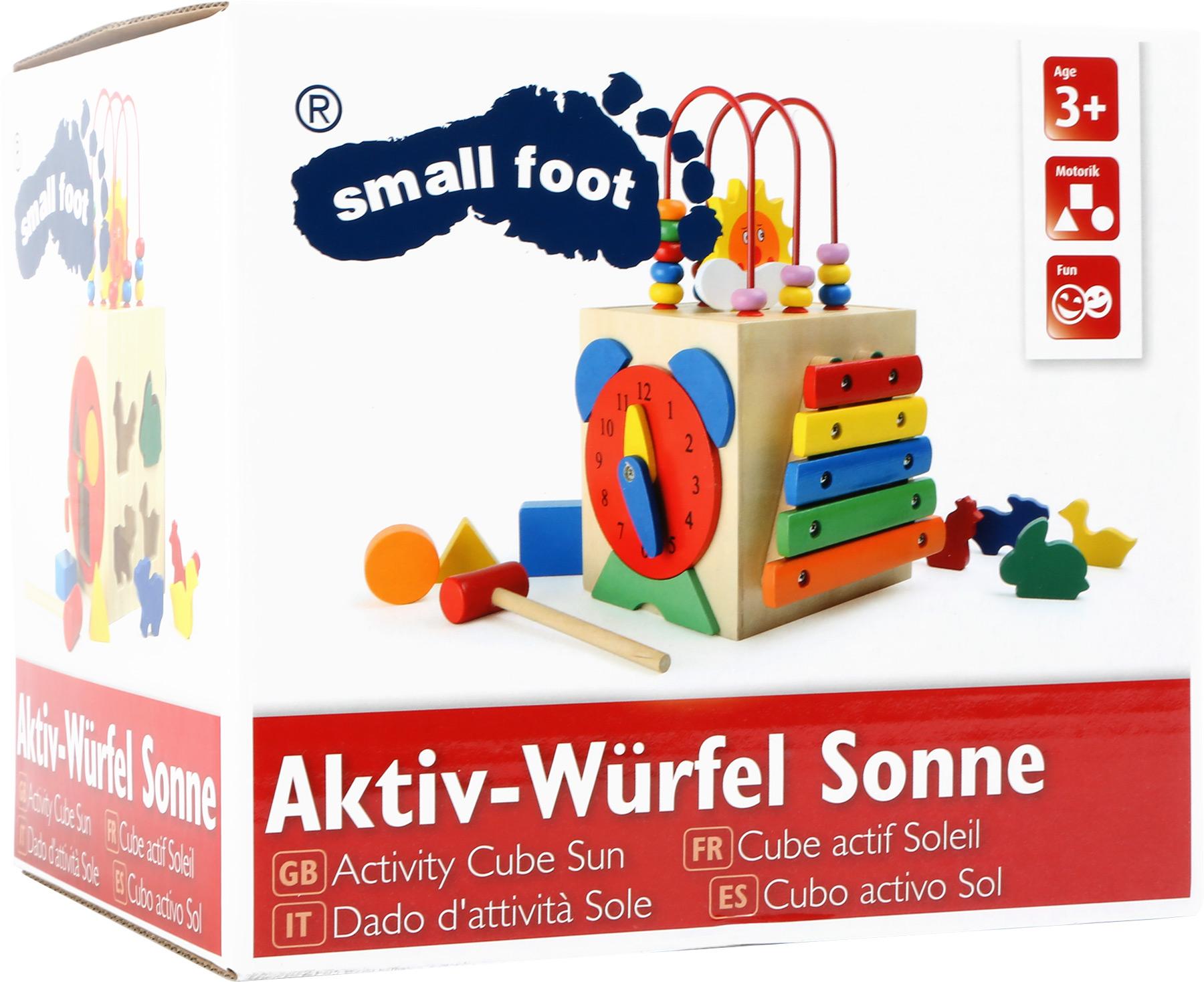Small Foot Aktívna motorická kocka slniečko