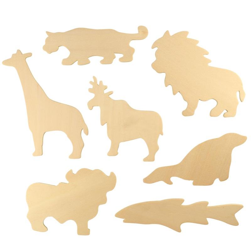 Bigjigs Toys obkreslovací vzory- Obrázky zvířátka ZOO