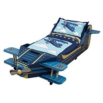 KidKraft dřevěná dětská postel letadlo