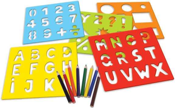 Vilac hračky - Dřevěné šablony - Abeceda a čísla