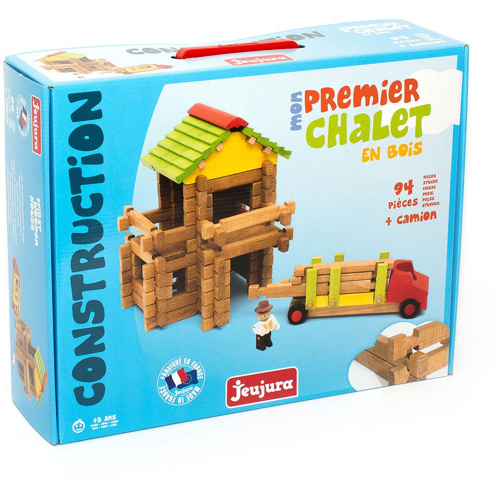 Jeujura Drevená stavebnica 94 dielov drevárska píla s ťahačom
