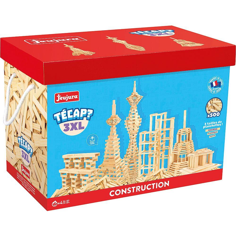 Jeujura Drevená stavebnica TECAP 3XL 500 dielov
