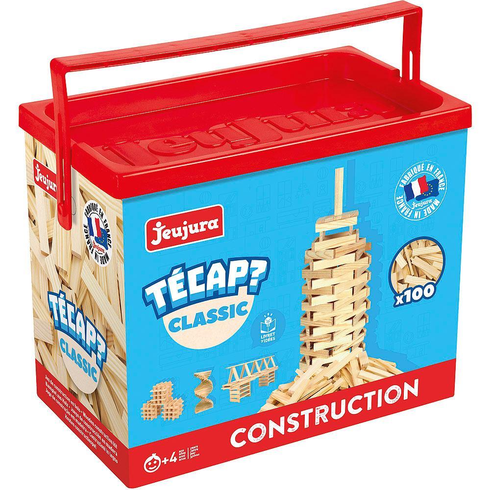 Jeujura Drevená stavebnica TECAP 100 dielov