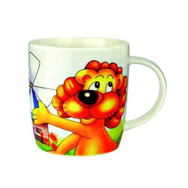 Porcelánový hrnček - Lev