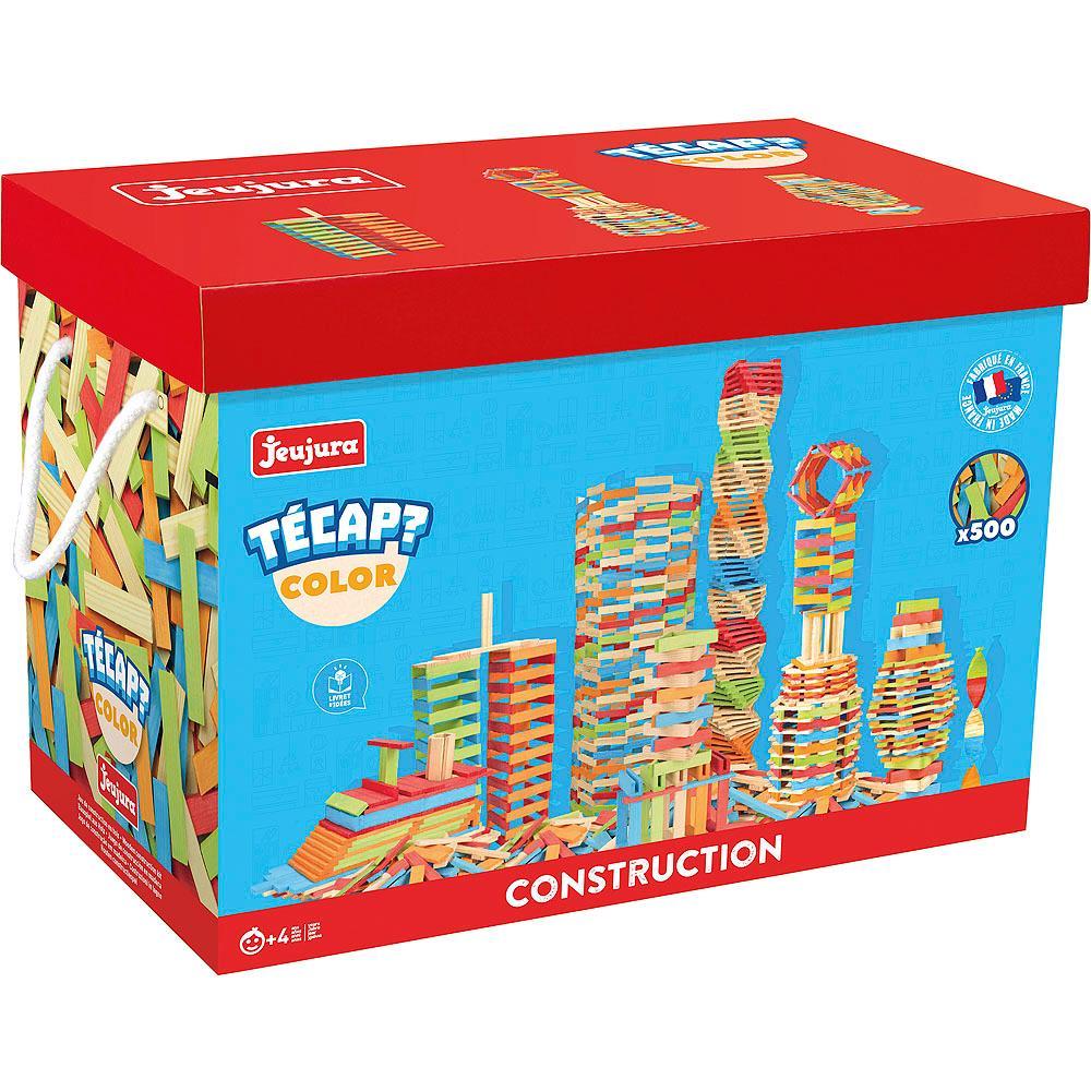 Jeujura Drevená stavebnica TECAP 500 dielov
