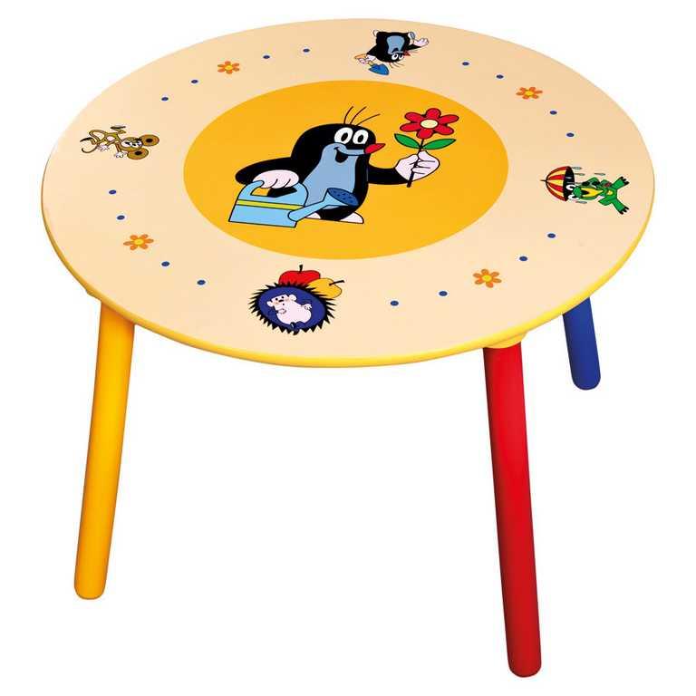 Detský set stolík a stoličky - Krtko