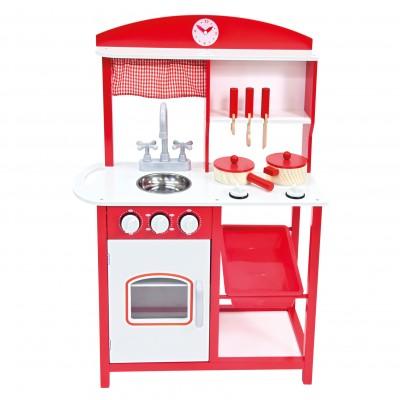 Detská kuchynka s príslušenstvom červená