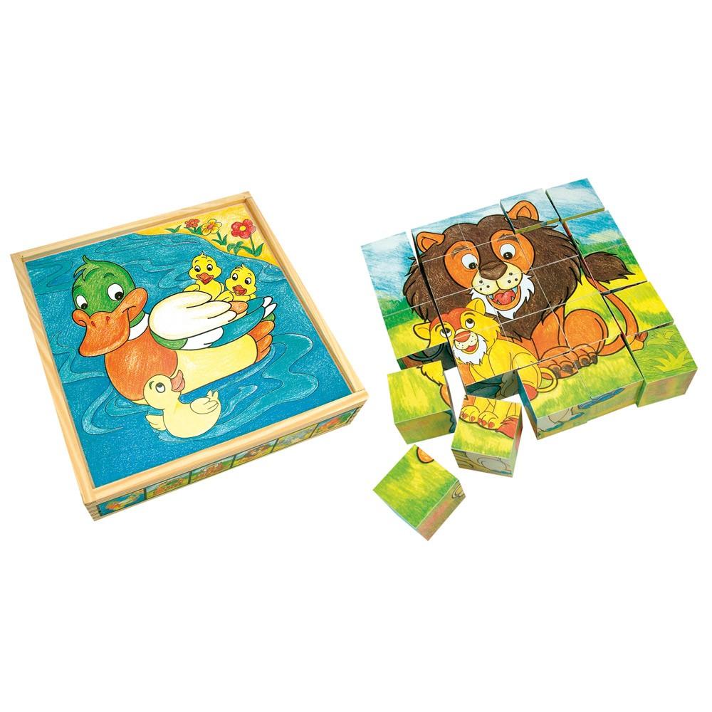 Bino 84173 Obrázkové kocky - Zvieratká, 25ks