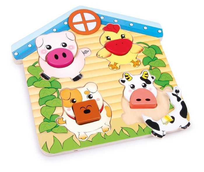 Small Foot Triediace puzzle Zvieratá