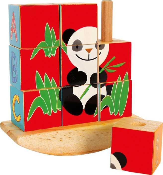 Small Foot Kockové puzzle Slon a Panda