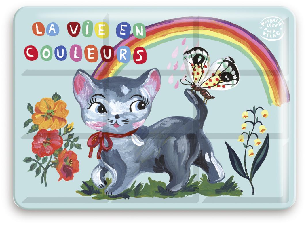 Vilac - Velké vodové barvy v plechové krabičce kočka