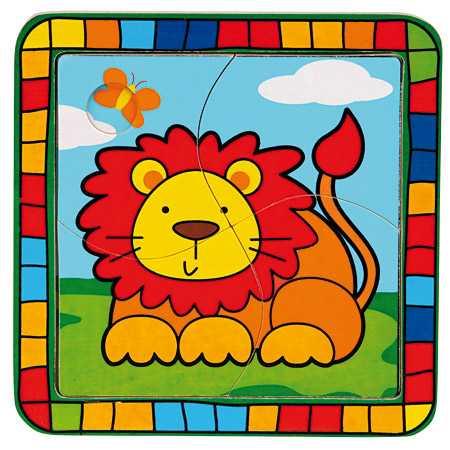 Bino Vkladacie puzzle lev