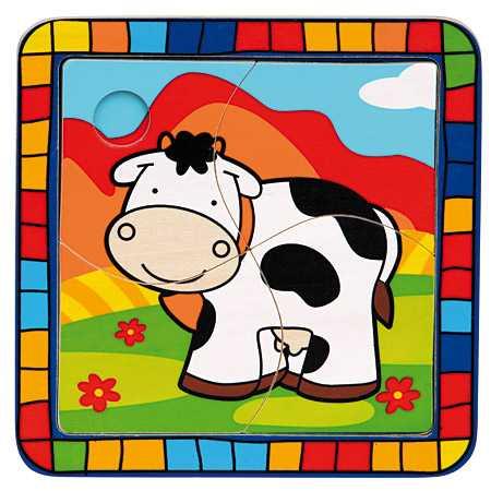 Bino Vkladacie puzzle kravička