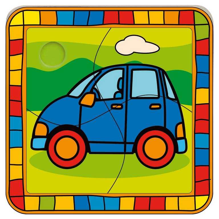Bino Vkladacie puzzle auto