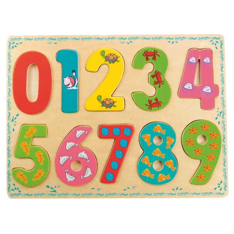 Dřevěné hračky - Počítání - Puzzle číslice