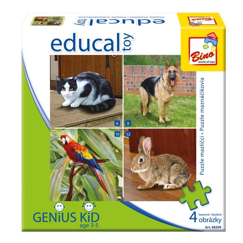 Edukativní hra - Puzzle - Domácí mazlíčci
