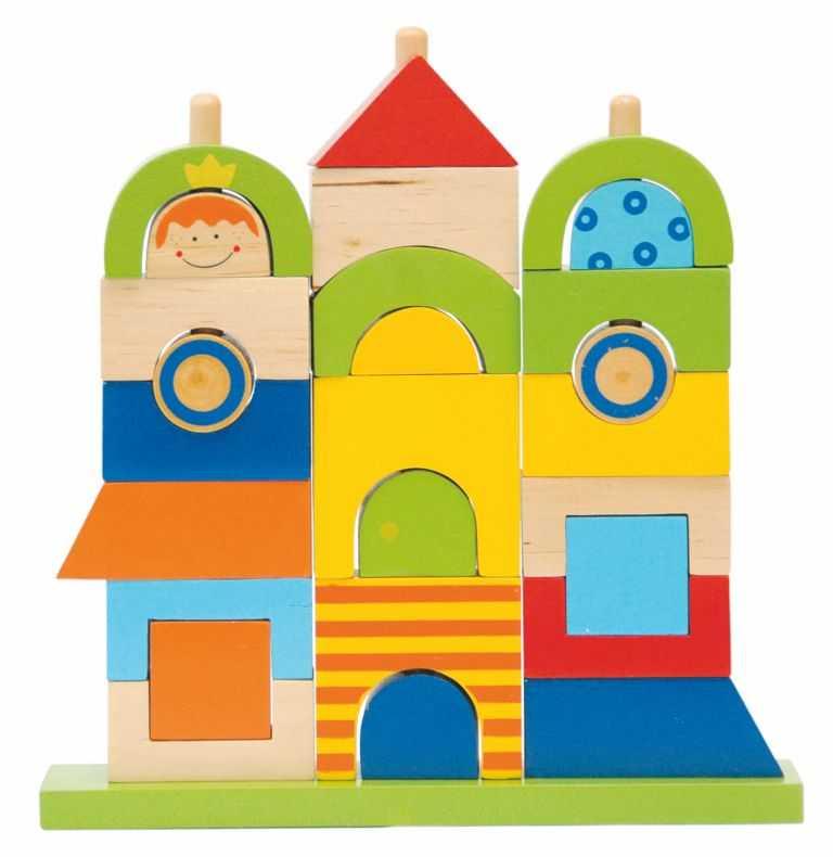 Dřevěné motorické hračky Woody - Rainbow Můj dům