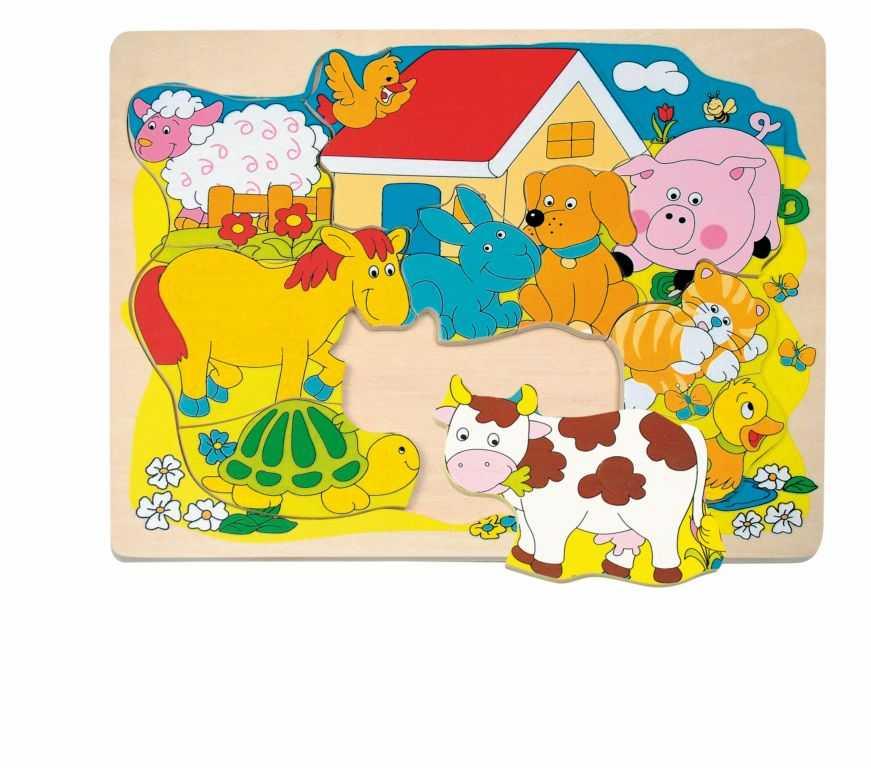 Woody - Puzzle na desce Veselá domácí zvířátka
