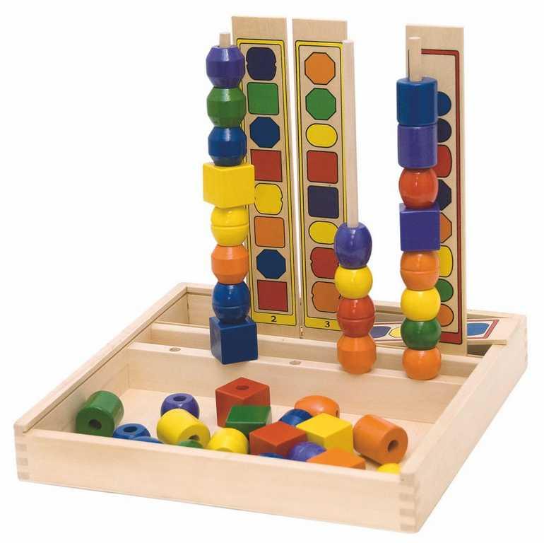 Dřevěné hračky - Navlékadlo Logik