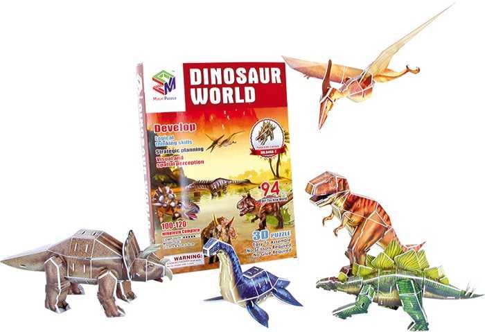 Small Foot 3D Puzzle Svet dinosaurov