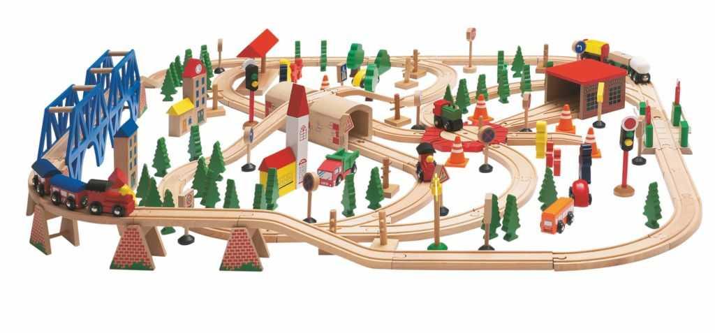 Vláčkodráha Super Trainset v dřevěné krabici, 170 d