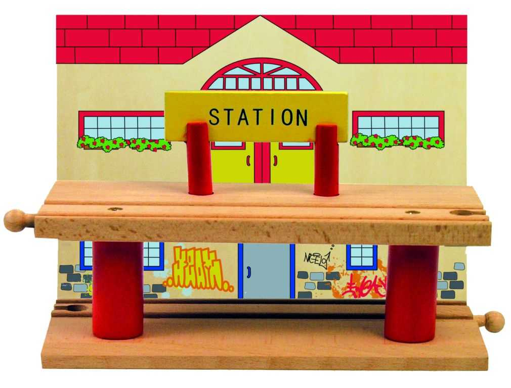 Příslušenství k vláčkodráze Woody - víceúrovňové nádraží