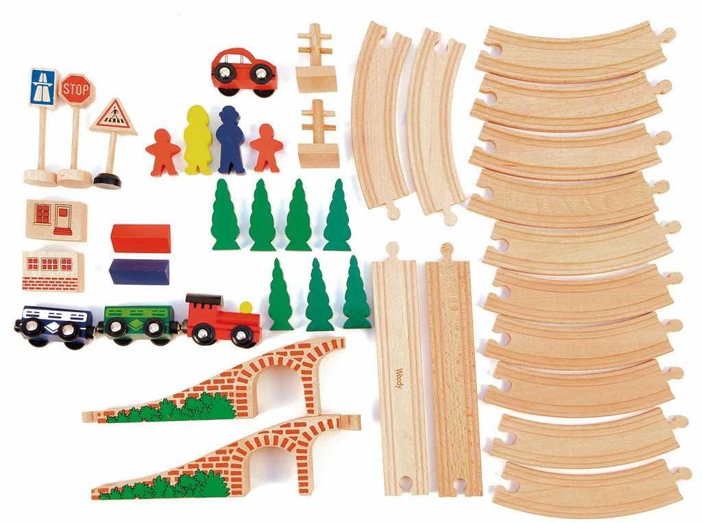 Dřevěné hračky - Vláčkodráha Osmička 40dílů