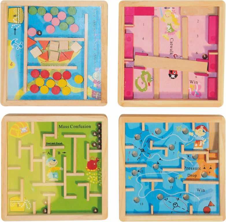 """Dřevěné hračky - Dřevěné hry - Labyrint """"Piráti/mořské"""