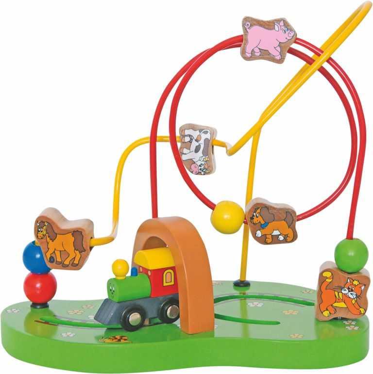 Dřevěné hračky - Motorický labyrint Mašinka